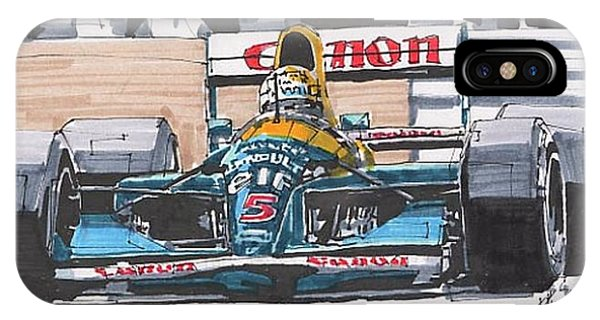 iPhone Case - Nigel Mansell Williams Grand Prix Of Portugal by Paul Guyer