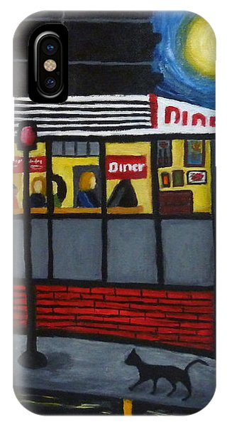 Night At An Arlington Diner IPhone Case