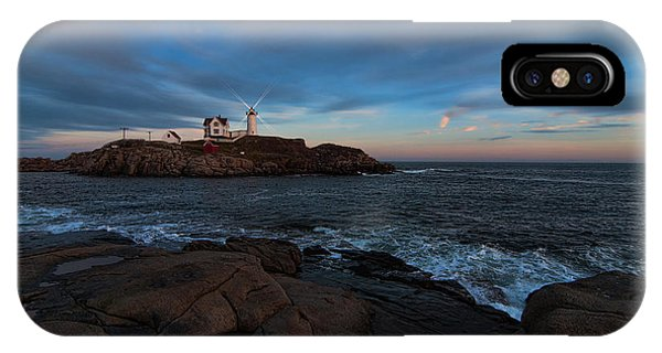 Night At Nubble Light IPhone Case