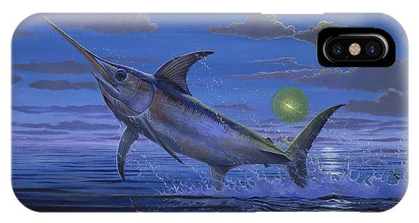 Swordfish iPhone Case - Night Bite Off0066 by Carey Chen