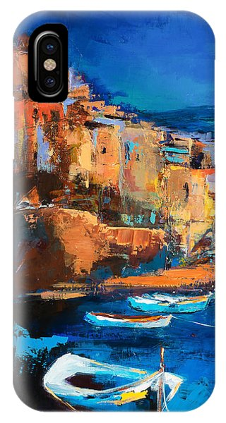 Sunset iPhone Case - Night Colors Over Riomaggiore - Cinque Terre by Elise Palmigiani