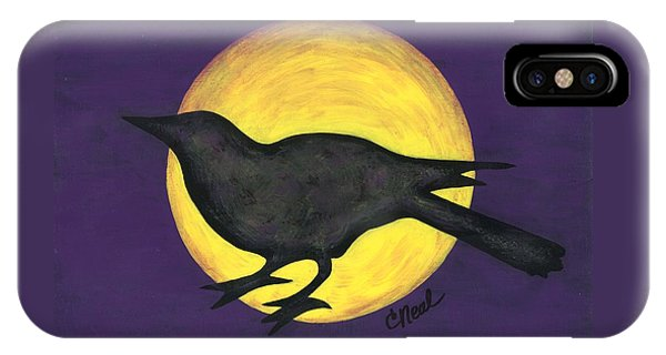 Night Crow On Purple IPhone Case