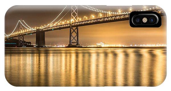 Night Descending On The Bay Bridge IPhone Case