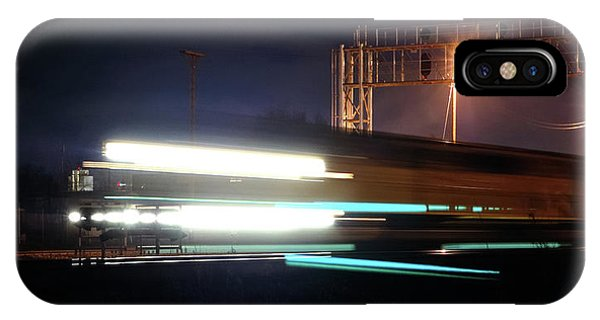Stop Action iPhone Case - Night Express - Union Pacific Engine by Steven Milner