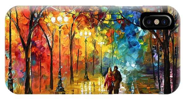 Afremov iPhone X Case - Night Fantasy by Leonid Afremov