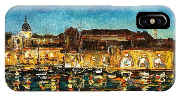 Night In Dubrovnik Harbour IPhone Case
