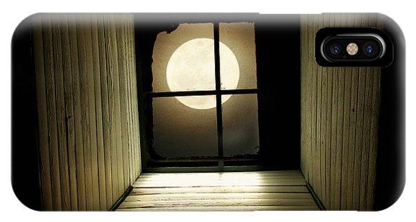 Moon iPhone X Case - Night Light by Amy Tyler