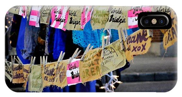 Night Market Tags Phone Case by Marina Slusar