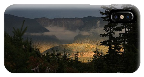 Night On Cougar Mountain Series Vi IPhone Case
