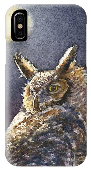Moonlight iPhone Case - Night Owl by Anne Gifford