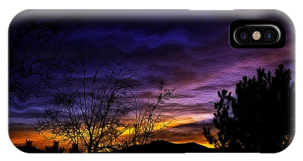 Night Paints The Sky Phone Case by Nancy Marie Ricketts