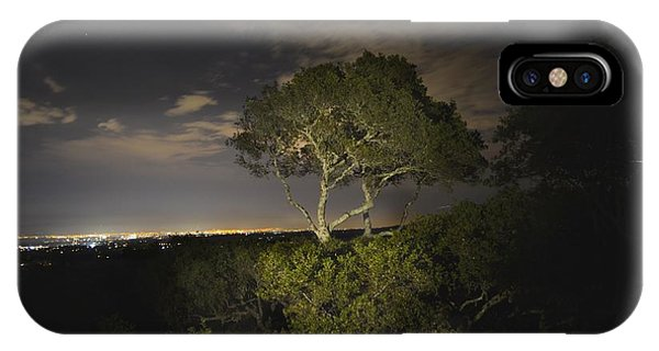 Night Glow Of A Tree IPhone Case