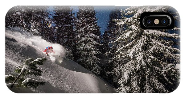 Action iPhone X Case - Night Powder Turns With Adrien Coirier by Tristan Shu