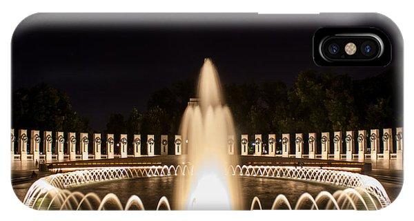 Night Reflections Wwii Memorial  IPhone Case