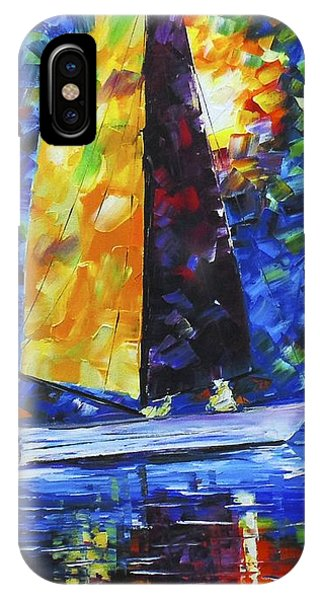 IPhone Case featuring the painting Night Sail by Kevin  Brown
