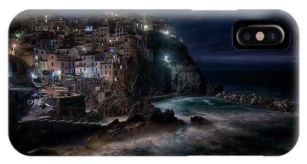 Village iPhone Case - Night Silence by Aida Ianeva