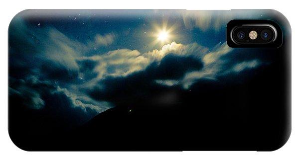 Night Sky And Moon Himalyan IPhone Case