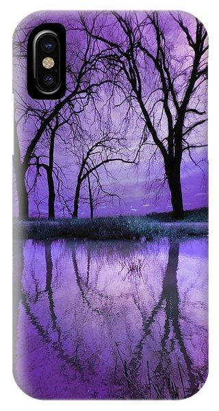 Night Sky In Purple IPhone Case