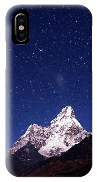 Constellations iPhone Case - Night Sky Over Mountains by Babak Tafreshi