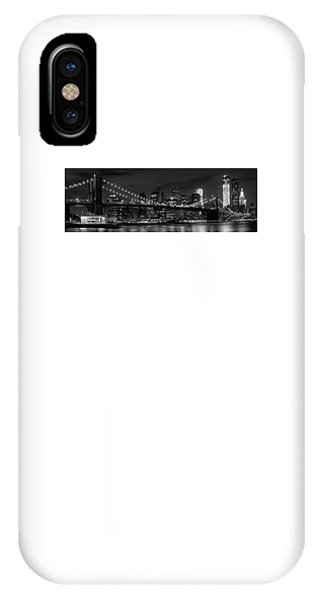 Night-skyline New York City Bw IPhone Case