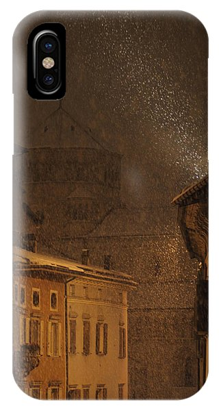Night Snowfall IPhone Case