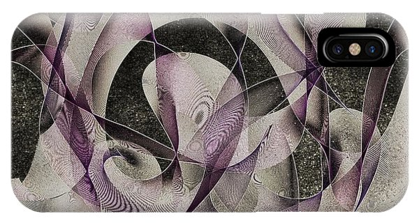 IPhone Case featuring the digital art Night Stars by Marian Palucci-Lonzetta