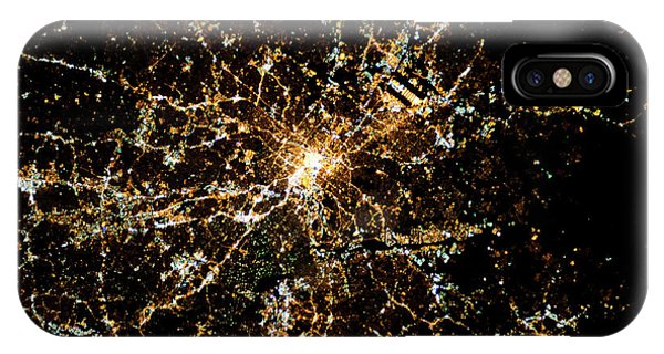 International Space Station iPhone Case - Night Time Satellite Image Of Atlanta by Panoramic Images