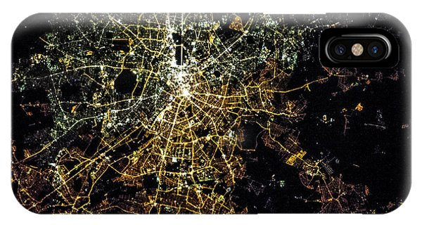 International Space Station iPhone Case - Night Time Satellite Image Of Berlin by Panoramic Images