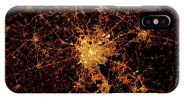 International Space Station iPhone Case - Night Time Satellite View Of Berck, Nord-pas-de-calais, France  by Panoramic Images