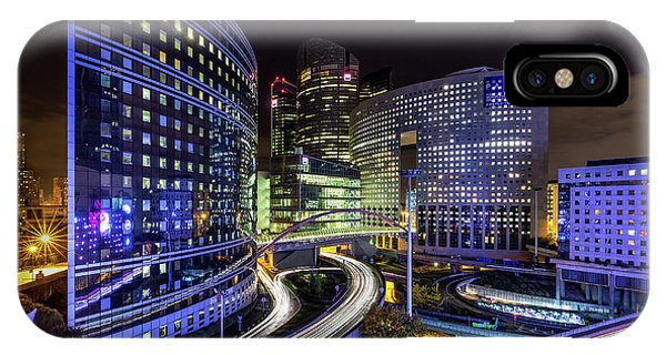 Business iPhone Case - Night Traffic by Sus Bogaerts