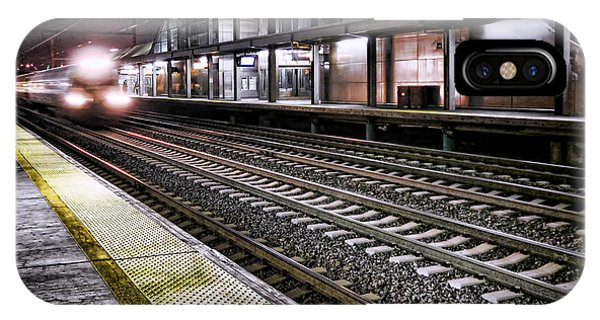 Railroad Station iPhone Case - Night Train by Olivier Le Queinec