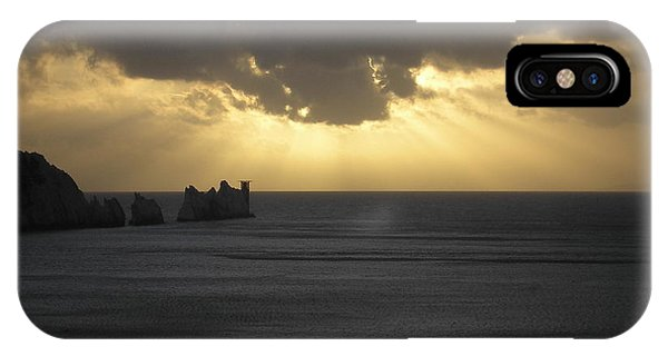 Nightfall At The Needles Point In The Isle Of Wight IPhone Case