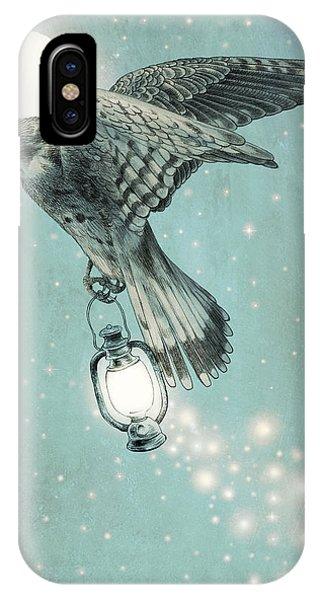 Moon iPhone X Case - Nighthawk by Eric Fan