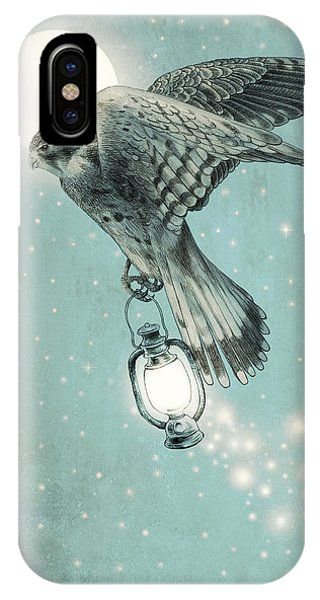 Hawk iPhone Case - Nighthawk by Eric Fan