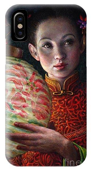 Light iPhone Case - Nightingale Girl by Jane Bucci
