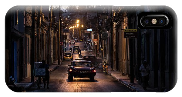 Night iPhone Case - Nights Streets Of Matanzas by Marco Tagliarino