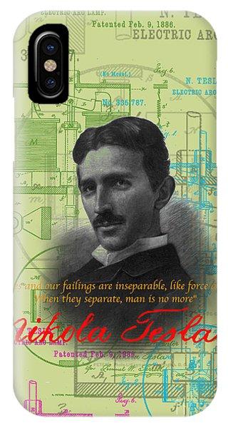 Nikola Tesla #3 IPhone Case