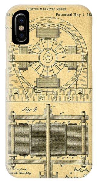 Fielding iPhone Case - Nikola Tesla Coil Patent Art by Edward Fielding