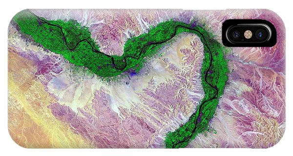 Nile And Egyptian Desert Phone Case by Us Geological Survey/science Photo Library