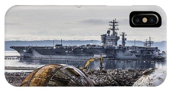 Nimitz - Port Of Everett IPhone Case