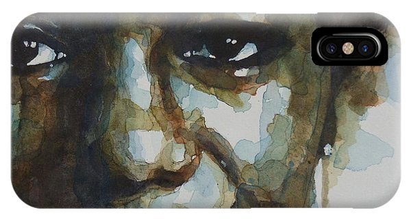 Eyes iPhone Case - Nina Simone Ain't Got No by Paul Lovering