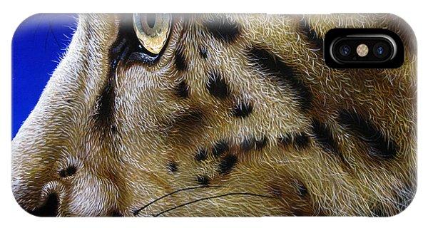 Snow Leopard iPhone Case - Nina The Snow Leopard by Jurek Zamoyski