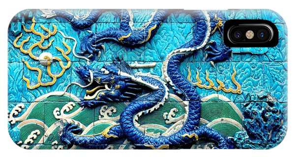 Forbidden City iPhone Case - Nine Dragon Wall In Forbidden City by Anna Lisa Yoder