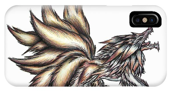 Nine Tails Wolf Demon IPhone Case