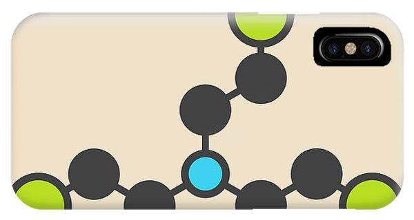 Mustard iPhone Case - Nitrogen Mustard Molecule by Molekuul