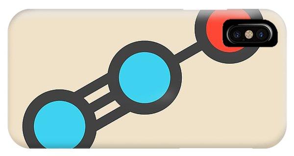 Oxide iPhone Case - Nitrous Oxide Molecule by Molekuul