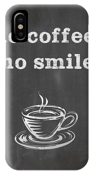 No Coffee No Smile IPhone Case