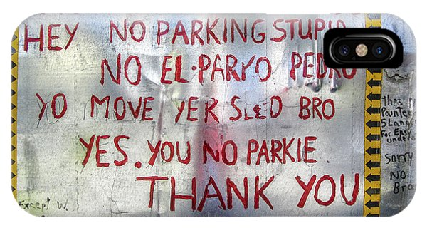 No El Parko Pedro Sign IPhone Case