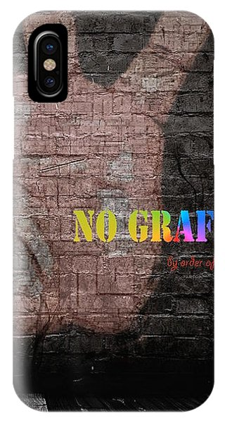 IPhone Case featuring the digital art No Graffiti by ISAW Company