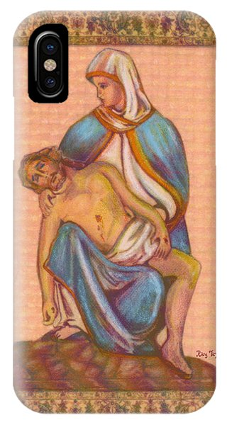 No Greater Love - Jesus And Mary  Phone Case by Ray Tapajna